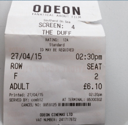 18 The Duff Ticket